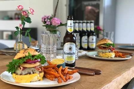 Burger Rezept Krombacher melting Cheesburger
