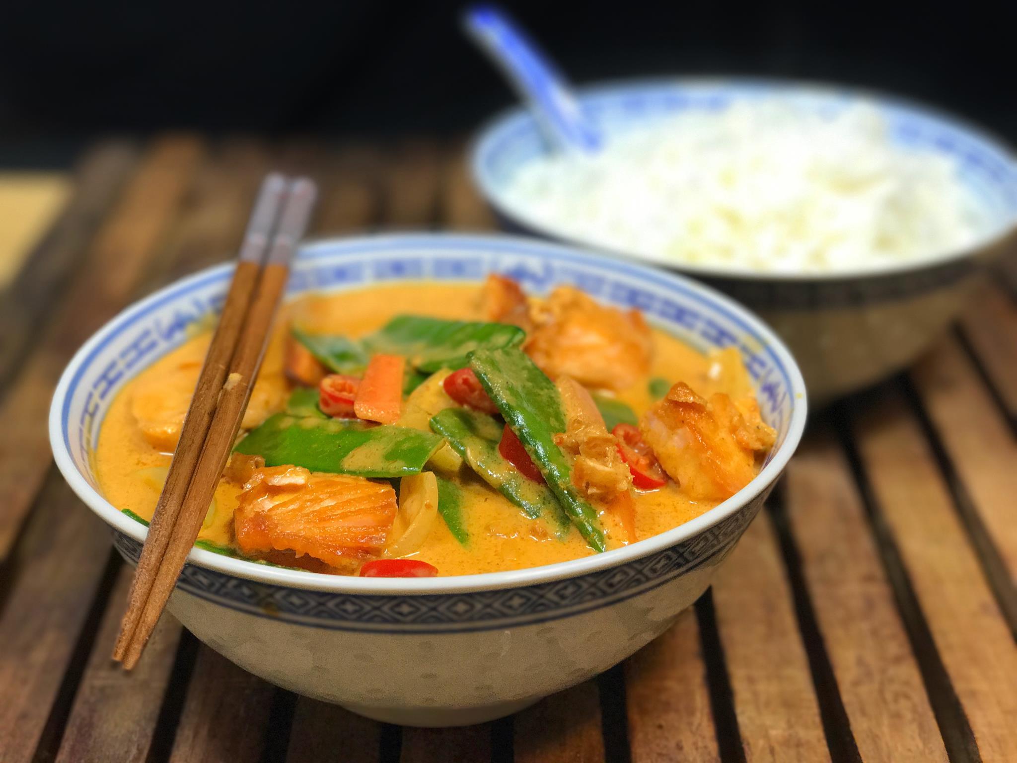Asien Spezial Thai Curry Mit Lachs Bigmeatlove
