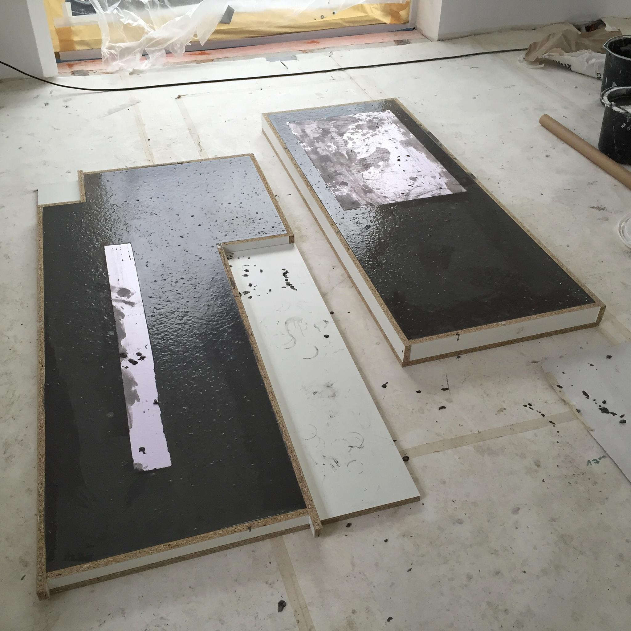 arbeitsplatten aus beton diy anleitung mit betonrezept. Black Bedroom Furniture Sets. Home Design Ideas