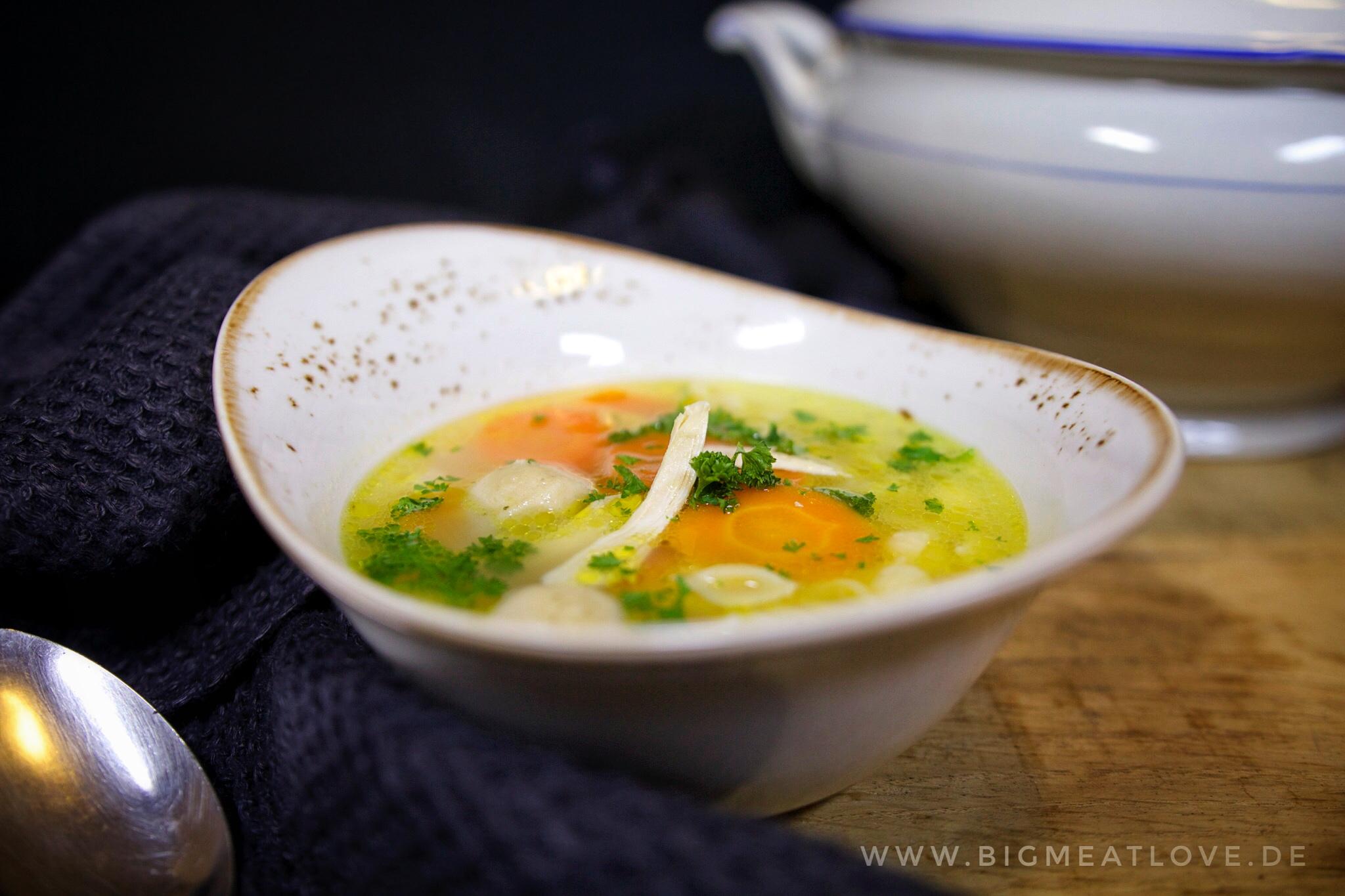 Klassische Hühnersuppe Wie Bei Oma Rezept Bigmeatlove
